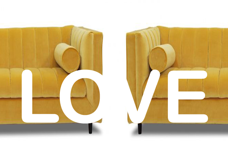 We love the loveseat