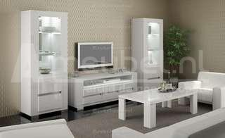 Hoogglans wit meubels modern mooiste collectie bij a meubel for Witte meubels woonkamer