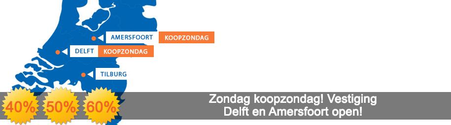 Koopzondag Delft en Amersfoort