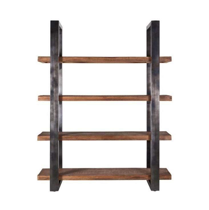 Mango Boekenkast 11141 160cm met Metalen Frame-Zwart