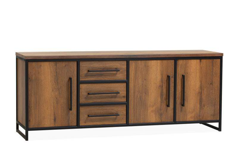 Orvelte Dressoir Groot 3 drs/3 laden