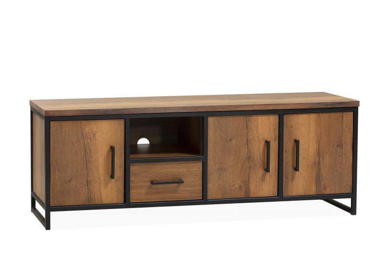 Orvelte TV-Dressoir 3 dr/1 la/1 open
