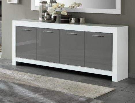 Marknesse dressoir 4 deurs wit grijs goedkoopst bij a meubel