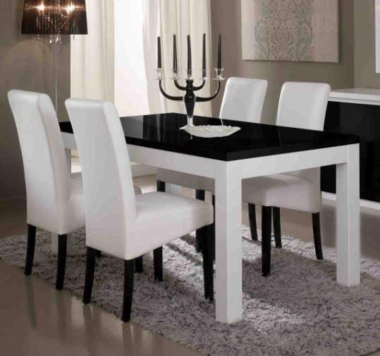 Apeldoorn Eettafel Wit Zwart   Goedkoopst bij A meubel
