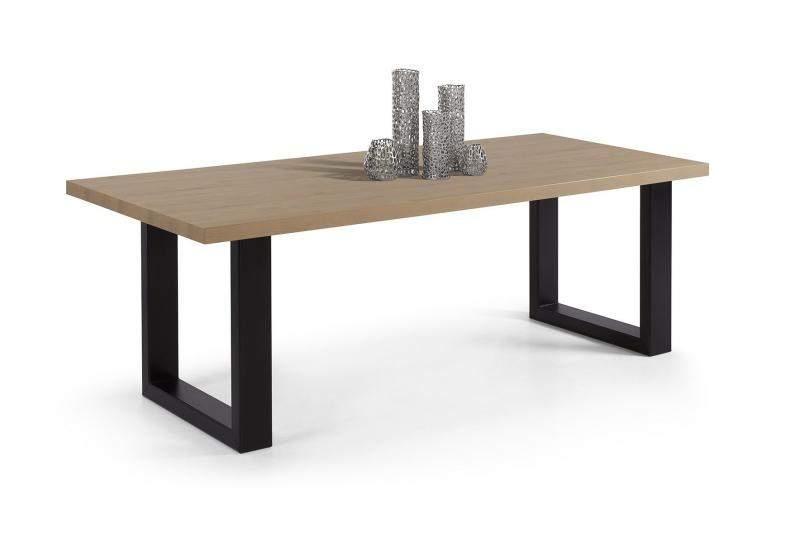 Eetkamertafel Vierkant Wit : Eettafel york hangoor wit met hout vierkant keuken