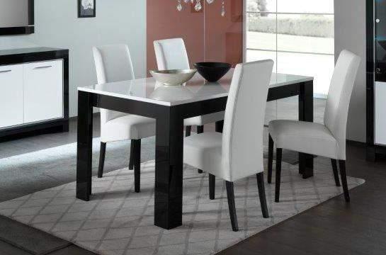 Zwart Wit Hoogglans Eettafel.Marknesse Eettafel Zwart Wit Goedkoopst Bij A Meubel