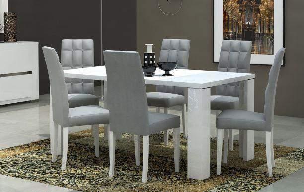 Elegance eettafel goedkoopst bij a meubel for Goedkope witte stoelen