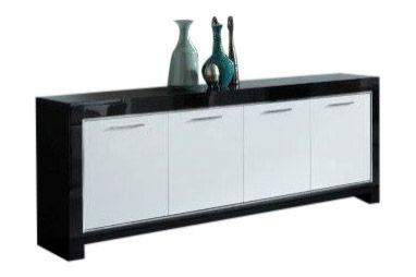Grote Tv Kast : Marknesse dressoir 4 deurs zwart wit goedkoopst bij a meubel