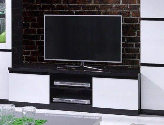 Apeldoorn tv kast zwart wit goedkoopst bij a meubel for Modern tv meubel design