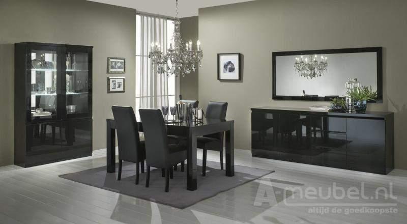 Woonkamerset apeldoorn zwart goedkoopst bij a meubel
