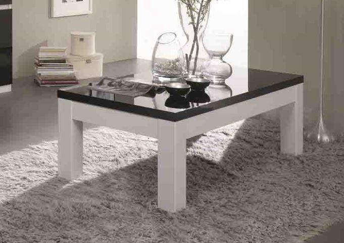 Apeldoorn salontafel 138x80cm wit zwart goedkoopst bij a meubel - Deco salon zwart wit ...