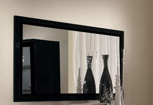 Apeldoorn spiegel zwart goedkoopst bij a meubel for Zwarte spiegel