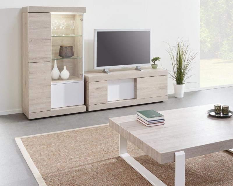 Lichtgrijs Eiken Meubels : Woonkamerset twijzel lichtgrijs wit goedkoopst bij a meubel
