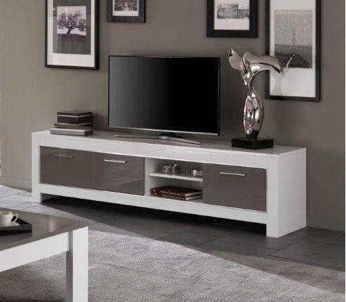 tv kast. marknesse tv-kast groot wit/grijs tv kast d