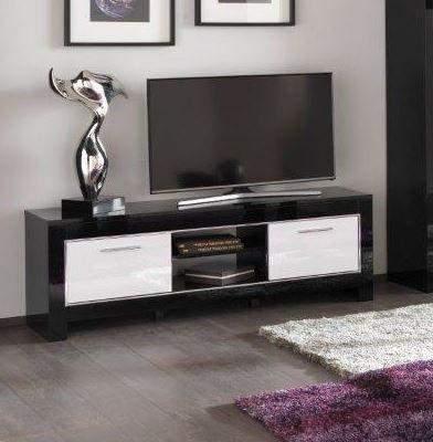 Tv Kast Zwart Wit.Marknesse Tv Kast Medium Zwart Wit Goedkoopst Bij A Meubel