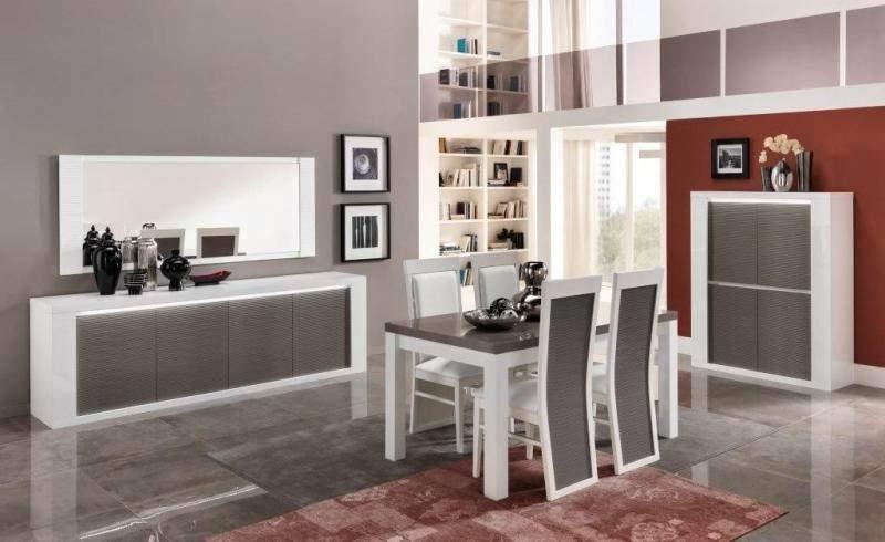 Woonkamerset Vianen Wit Grijs | Goedkoopst bij A-meubel