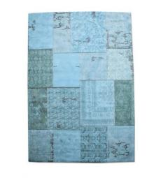 Carpet patchwork large turquoise 6013