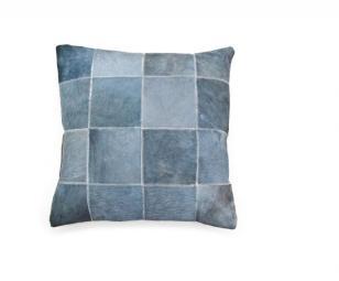 Uit De Collectie Pillow Patchwork Leather Grey 3098