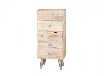 Wooden drawer cabinet 8 drawers natural finish 4003